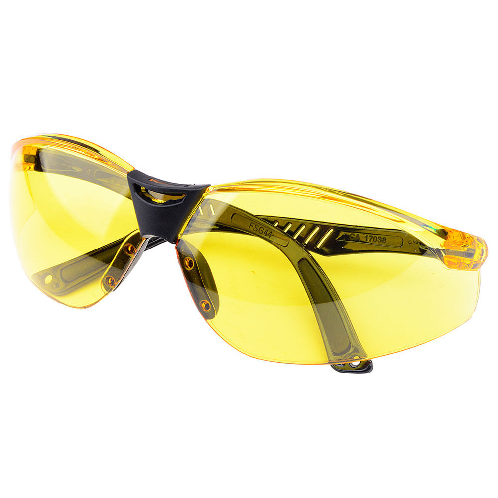 c521633415188 Óculos de Segurança Cayman Ambar Carbografite - ComercialSaoPaulo